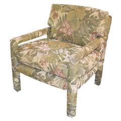 Parsons Drexel Mid-Century Modern Parsons Armchair Attributed to Milo Baughman