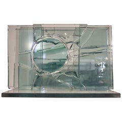Partial Adventures in Space 1 a Glass Sculpture by Canadian Artist Mary Filer