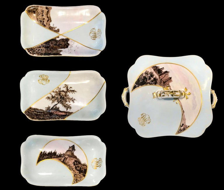 Partial Dinner Service Haviland Limoges Hand Painted