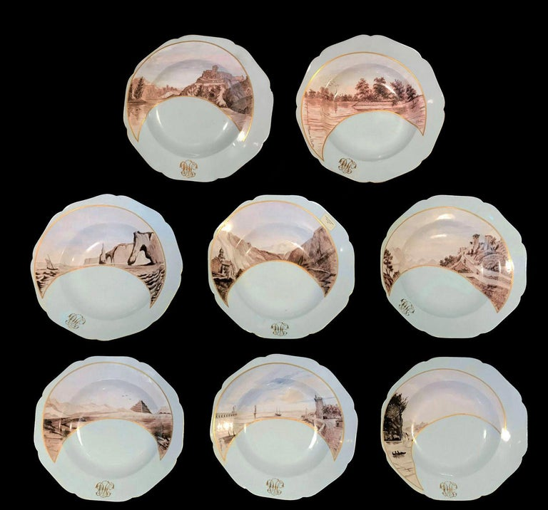 19th Century Partial Dinner Service Haviland Limoges Hand Painted