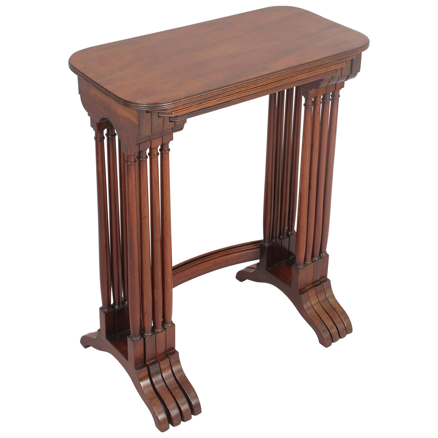 Particularly Fine George III Period Mahogany Set of Quartetto Tables