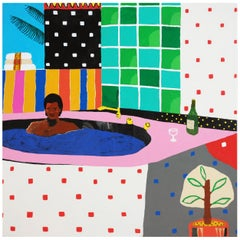 'Party For One' Portrait Painting by Alan Fears Pop Art