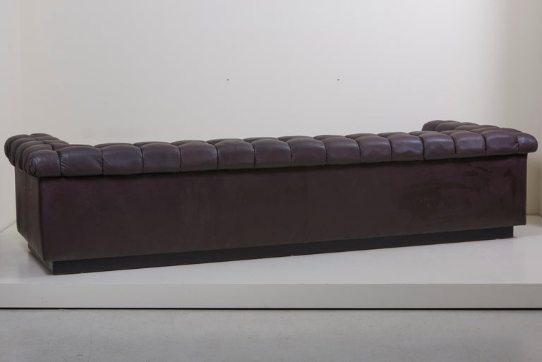 Party Sofa Model 5407 in Dark Brown Leather by Edward Wormley for Dunbar For Sale 4