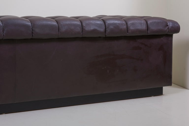 Party Sofa Model 5407 in Dark Brown Leather by Edward Wormley for Dunbar For Sale 7