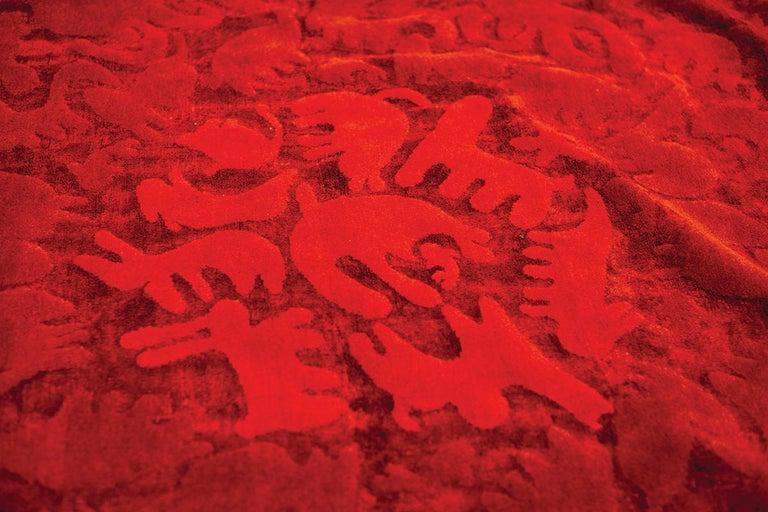 Party Zoo Leinen und Wolle Teppich der Glücklich Teppiche Kollektion von Aldo Cibic 2