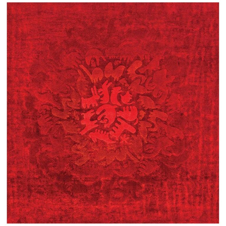Party Zoo Leinen und Wolle Teppich der Glücklich Teppiche Kollektion von Aldo Cibic 1