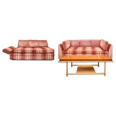 Parzinger Originals Plinth Sofa, Daybed Loveseat & Coffee Table Living Set, 1959