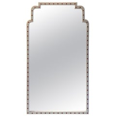 Parzinger Style White Lacquered Mirror, Second Mirror Available