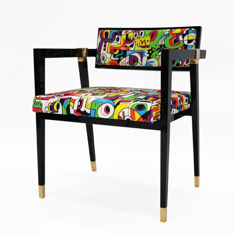 Lacquered Pascal Chair by Hudson For Sale