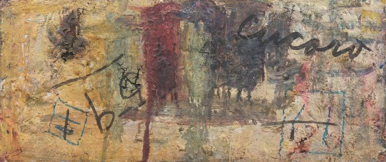 'Market Scene', Sausalito, North Beach, San Francisco Bay Area Expressionist Oil For Sale 2