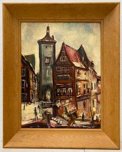 Pascal (Pat) Cucaro European Citysacpe Original Oil Painting C.1960