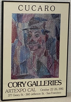 "Vintage Cucaro ""Cory Galleries San Francisco"" Exhibition Poster C.1981"