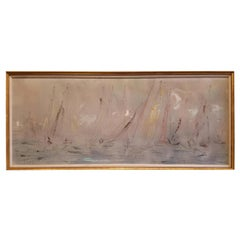 Pascal Cucaro Large Scale Abstract Expressionist Oil Painting