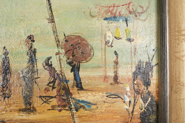 Pascal Cucaro Oil Canvas Mid-Century Painting For Sale 5
