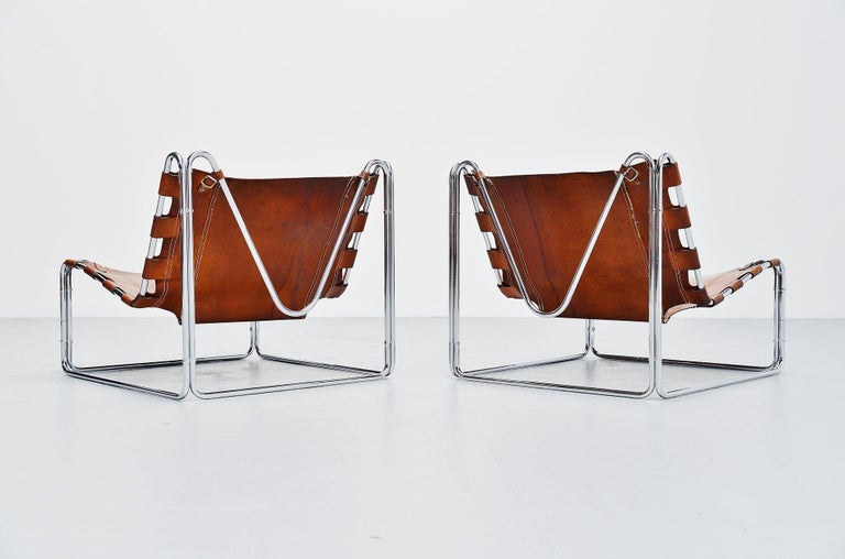 Mid-Century Modern Pascal Mourgue Fabio Lounge Chairs Steiner, 1970 For Sale