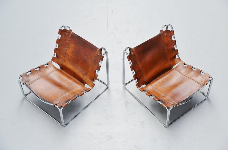 French Pascal Mourgue Fabio Lounge Chairs Steiner, 1970 For Sale