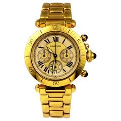 Pasha De Cartier Ref. 2111 in 18k Yellow Gold Watch