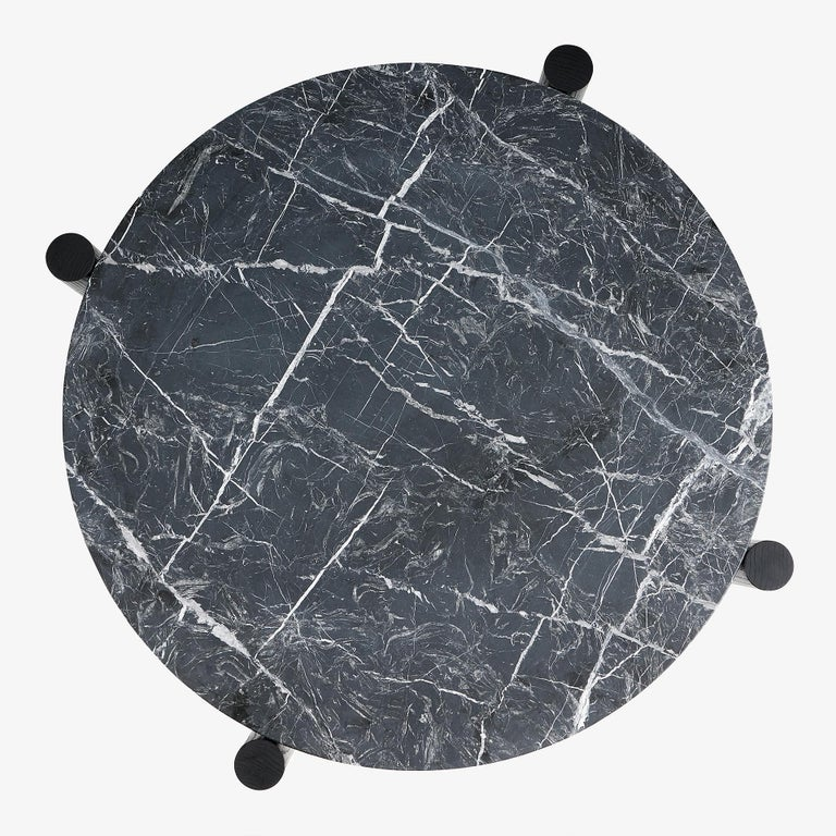 Blackened Paso Fino Marble & Ash Coffee Table by Danny Rosa for Studio 6F For Sale