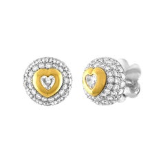 Pasquale Bruni 3.50 Carat Diamond Gold Button Stud Earrings