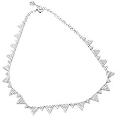Pasquale Bruni 8.19 Carat Diamond White Gold Necklace