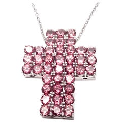 Pasquale Bruni Amethyst Cross White Gold Pendant Necklace