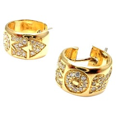 Pasquale Bruni Amore Diamond Gold Hoop Earrings