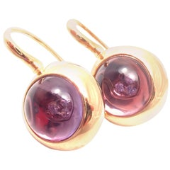 Pasquale Bruni Avant Garde Amethyst Diamond Yellow Gold Earrings