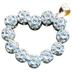 Pasquale Bruni Blue Topaz and Diamond Heart Necklace