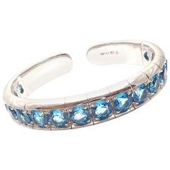 Pasquale Bruni Blue Topaz White Gold Bangle Bracelet