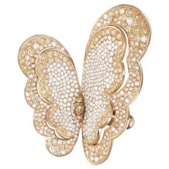 Pasquale Bruni Butterfly Ring in 18 Karat Gold and Diamonds, Liberty Collection