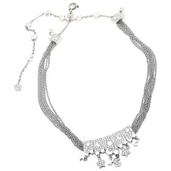 Pasquale Bruni Cielo Diamond Moon and Stars White Gold Necklace