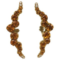 Pasquale Bruni Citrine and Diamond Sun Ray Earrings