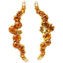 Pasquale Bruni Citrine and Diamond Sun Ray Earrings