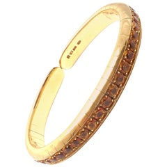 Pasquale Bruni Citrine Yellow Gold Bangle Bracelet