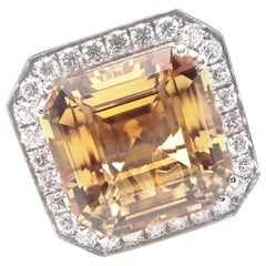 Pasquale Bruni Diamond Citrine Large White Gold Ring