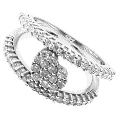 Pasquale Bruni Diamond Heart White Gold Band Ring