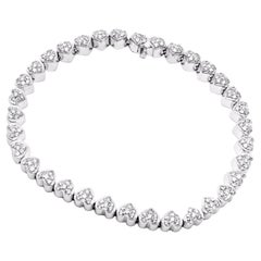 Pasquale Bruni Diamond Heart White Gold Tennis Bracelet