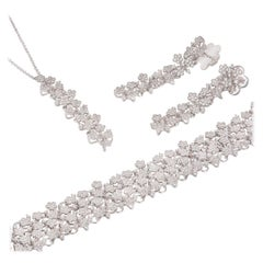 Pasquale Bruni Diamond Prato Fiorito Pendant, Bracelet and Earring Suite 15.25Ct
