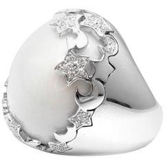 Pasquale Bruni Diamond White Agate Cielo Stars Moons White Gold Ring