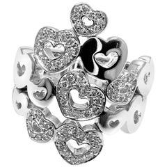 Pasquale Bruni Diamond White Gold Heart Ring
