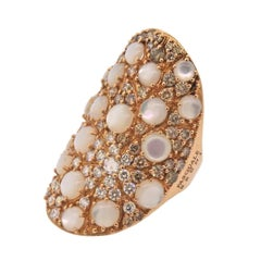 Pasquale Bruni Mandala Mother-of-Pearl Diamond Gold Ring