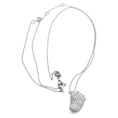 Pasquale Bruni ORME Footsteps Diamond Foot White Gold Pendant Necklace
