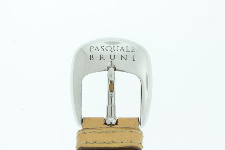 Pasquale Bruni Stainless Steel Chronograph Watch For Sale 2