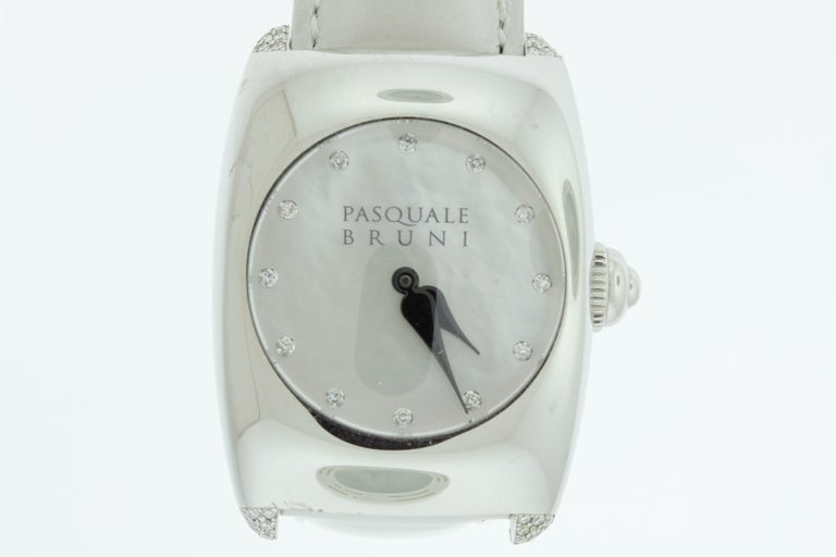 Pasquale Bruni Stainless Steel Diamond Marker Ladies Watch For Sale 1