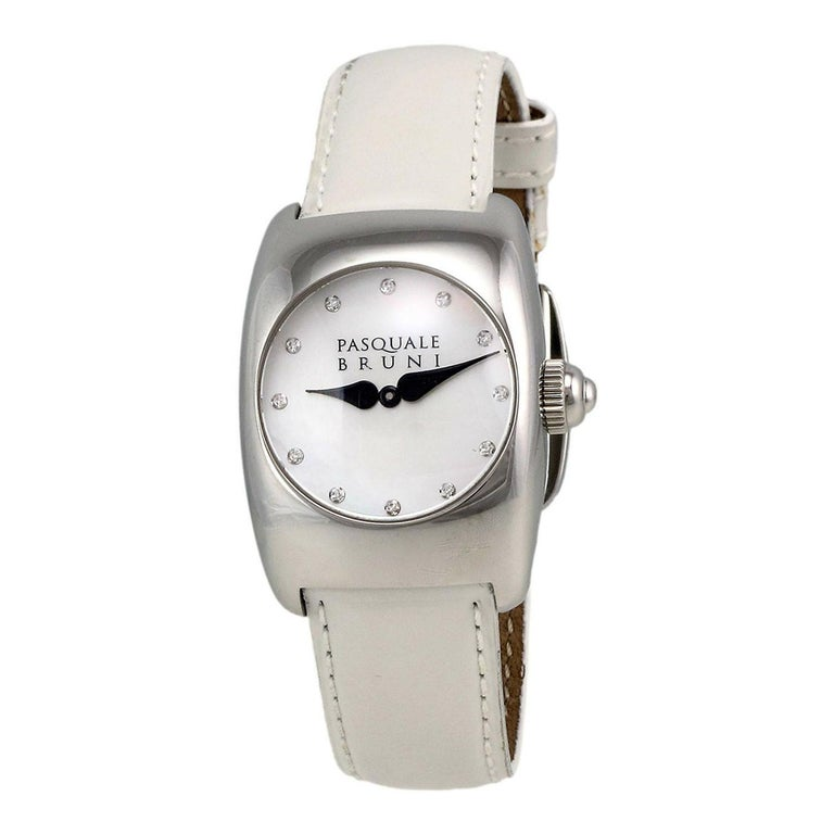 Pasquale Bruni Stainless Steel Diamond Marker Ladies Watch For Sale