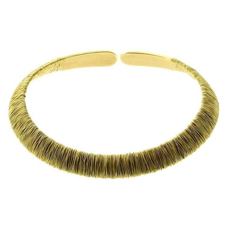 Pasquale Bruni Yellow Gold Choker Necklace