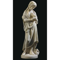 A Fine Quality White Marble Statue Carved by Romanelli