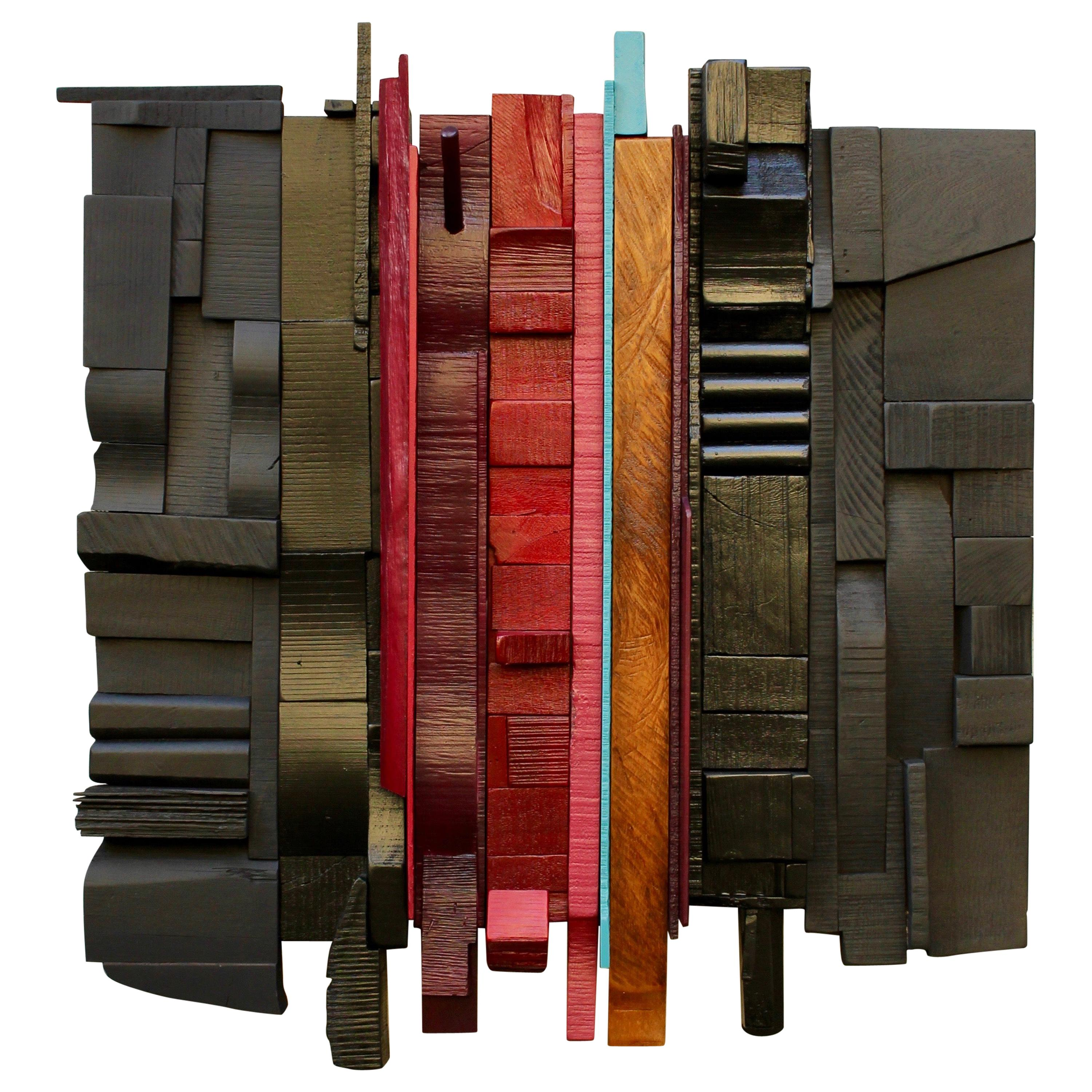 Passion Play, Peter Glassford, 2020 Wall Mounted Collage Sculpture 1/10