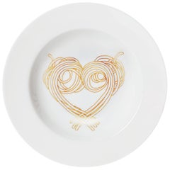 Dinner Pasta Porcelain Plate without gold Collection Le Coeur De La Mamma