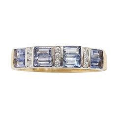 Pastel Blue Sapphire with Diamond Ring Set in 18 Karat Rose Gold Settings